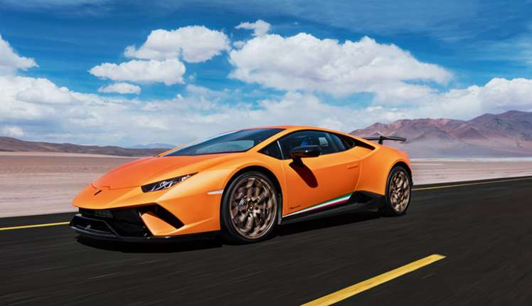 In 2018 so far, Lamborghini Huracan Performante is the car with fastest acceleration reaching 0-60 mph in 2.3 seconds (© Lamborghini)