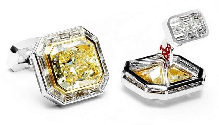 The Jacob & Co. Diamond cufflinks are the most expensive in the world