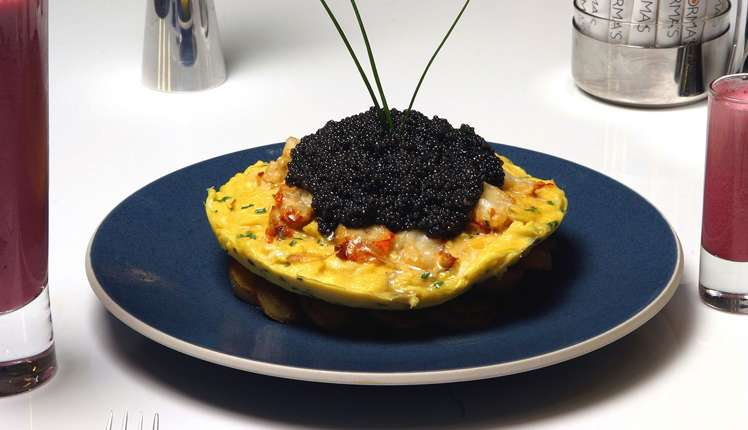 Zillion Dollar Lobster Frittata has many expensive ingredients justifying its price.