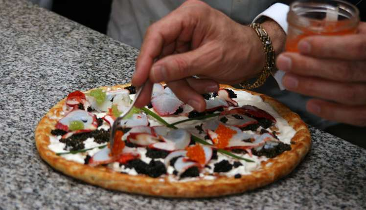 The Nino's Bellissima Pizza is the most expensive pizza in the world.