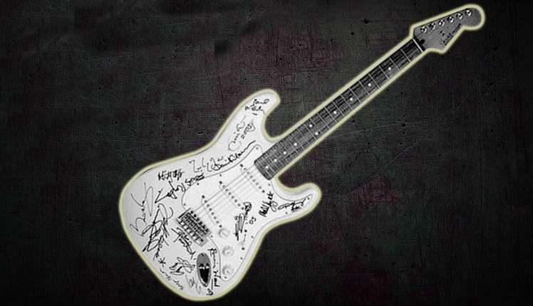 Reach Out to Asia Stratocaster has signs of many legendary musicians and song writers